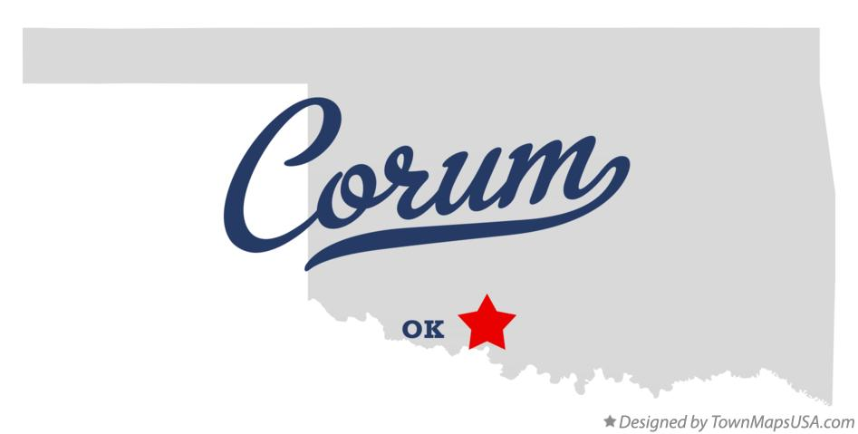Map of Corum Oklahoma OK