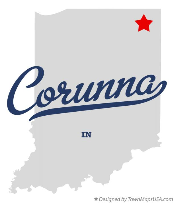 Map of Corunna Indiana IN
