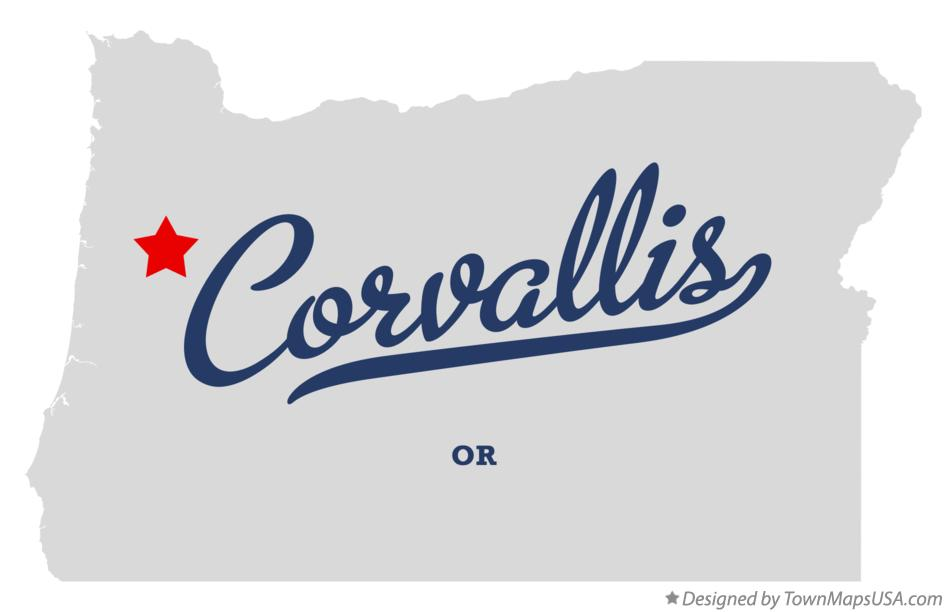Corvallis Oregon OR Map professionally designed by GreatCitees.com.