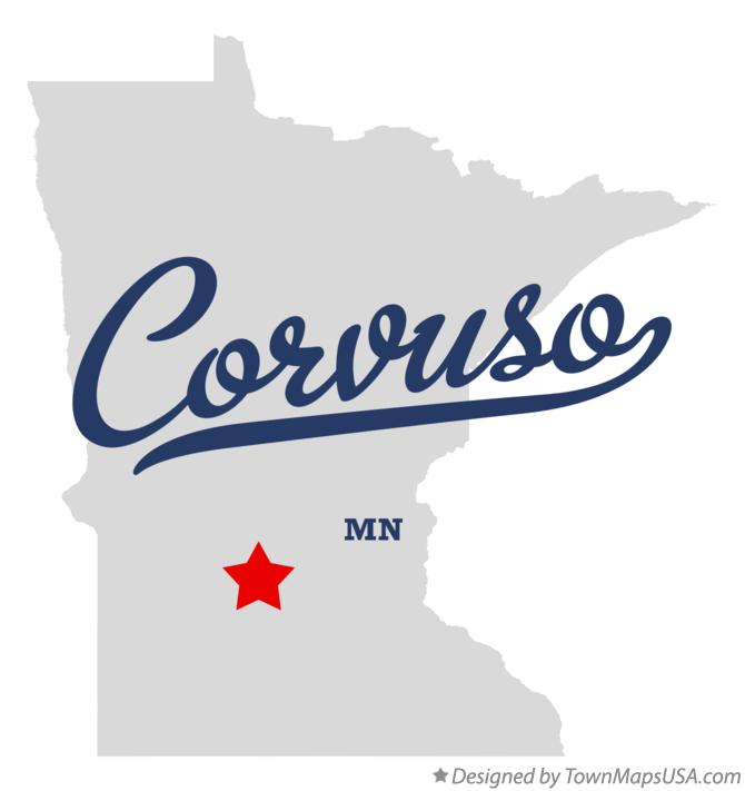 Map of Corvuso Minnesota MN