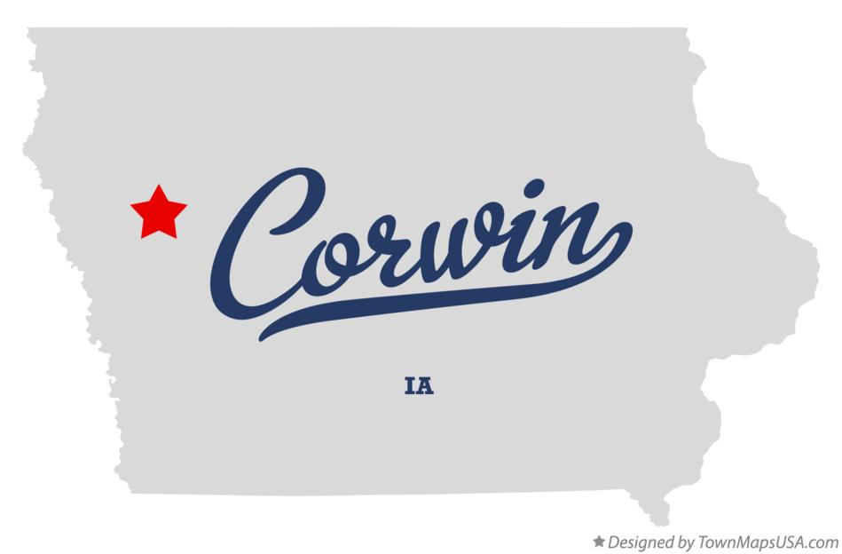 Map of Corwin Iowa IA