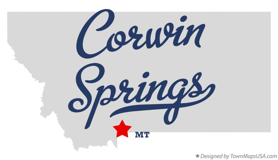 Map of Corwin Springs Montana MT