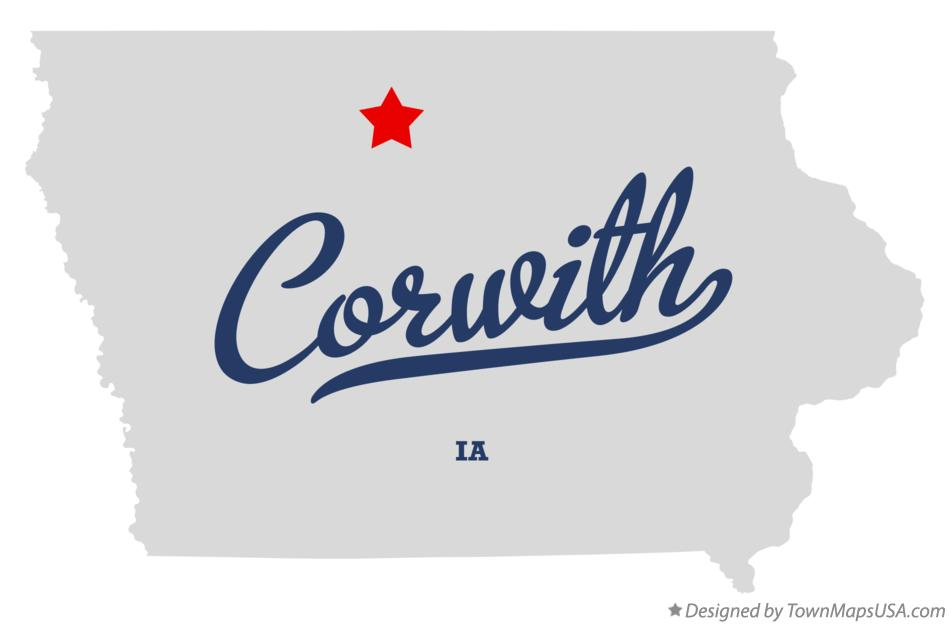 Map of Corwith Iowa IA