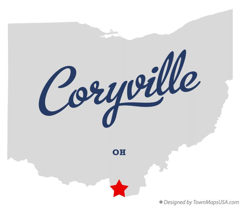 Map of Coryville Ohio OH