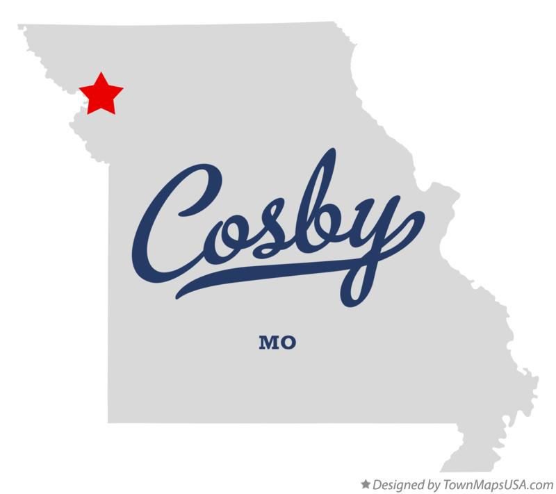 Map of Cosby Missouri MO