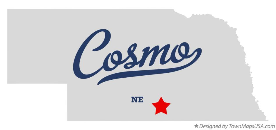 Map of Cosmo Nebraska NE