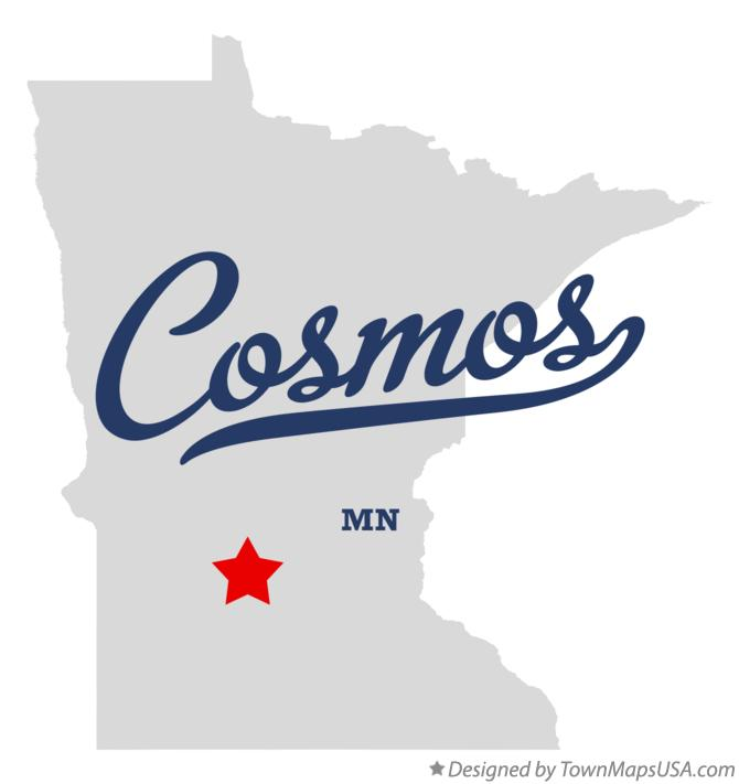 Map of Cosmos Minnesota MN
