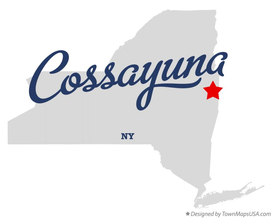 Map of Cossayuna New York NY