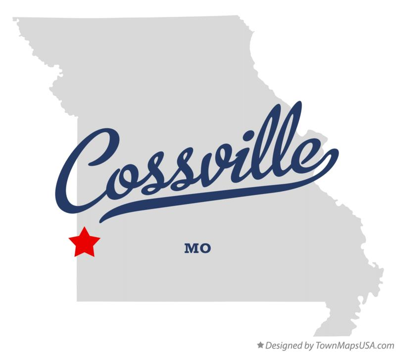 Map of Cossville Missouri MO