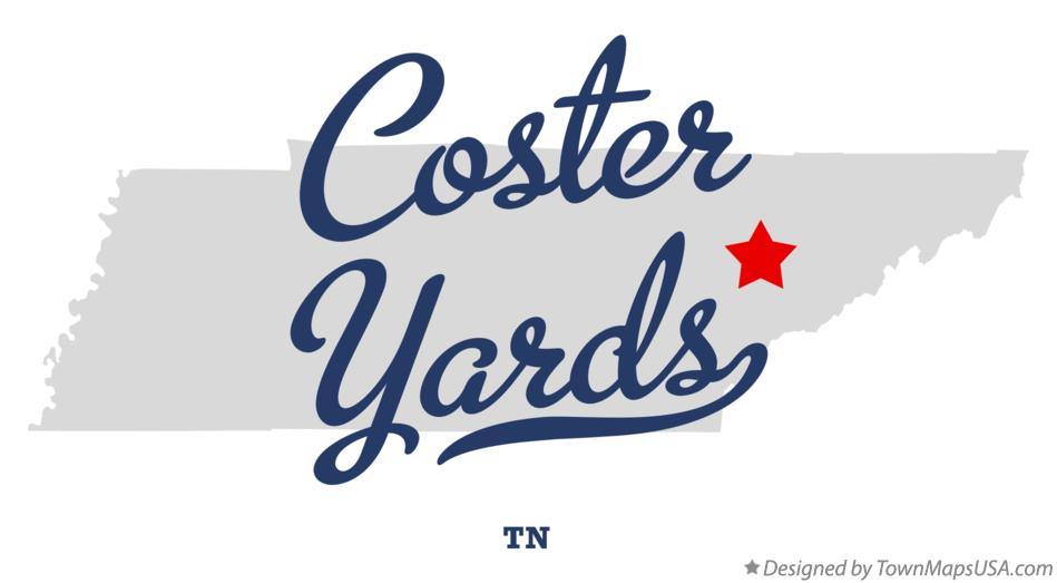 Map of Coster Yards Tennessee TN