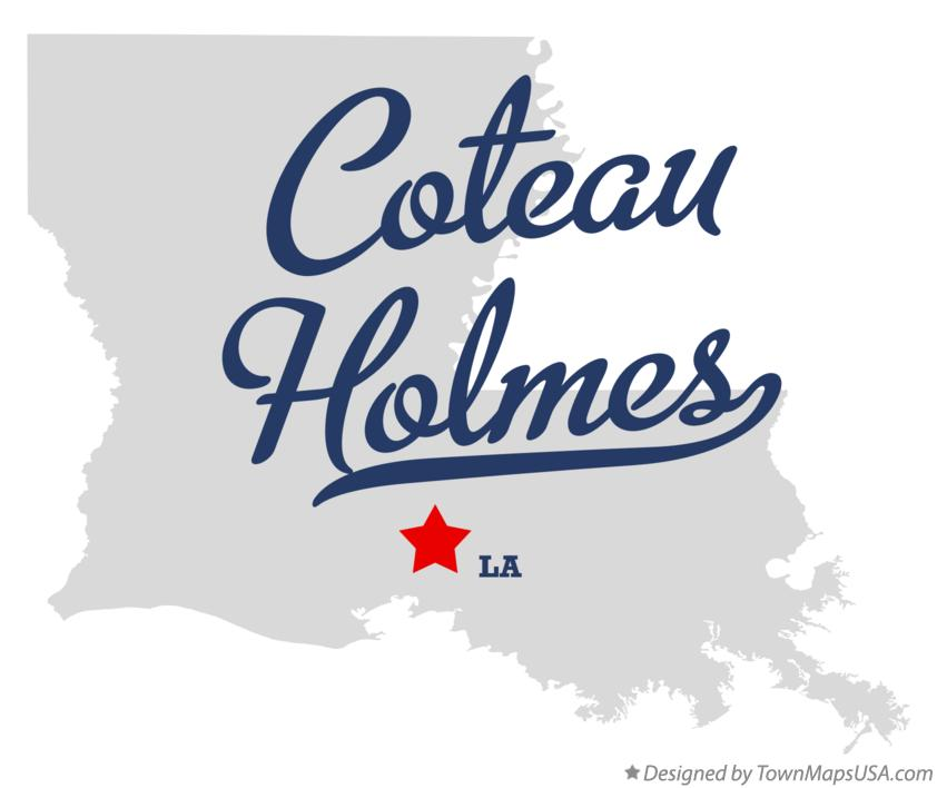 Map of Coteau Holmes Louisiana LA