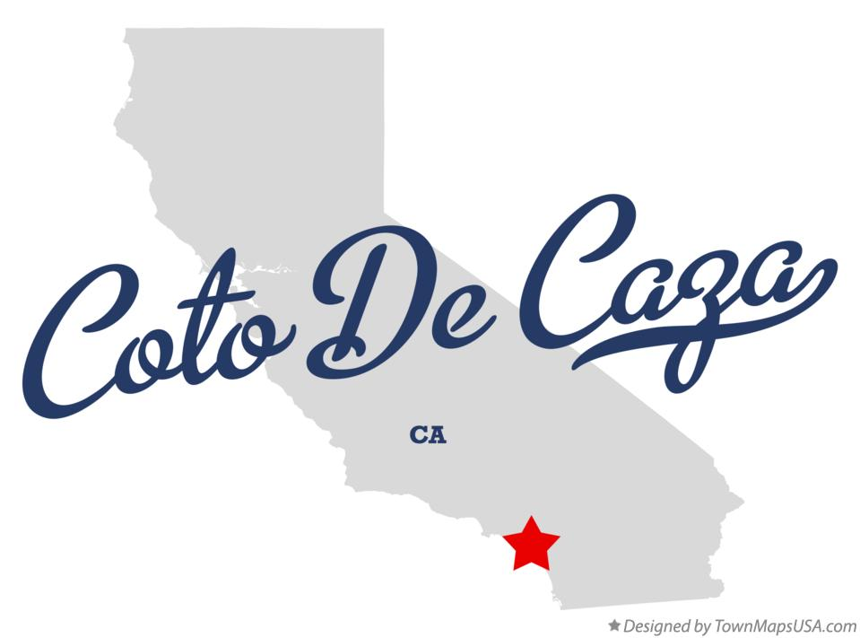 Map of Coto De Caza California CA