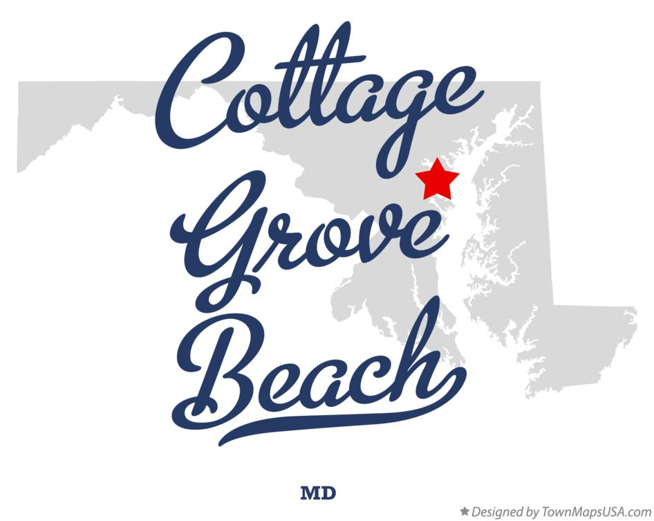 Map of Cottage Grove Beach Maryland MD