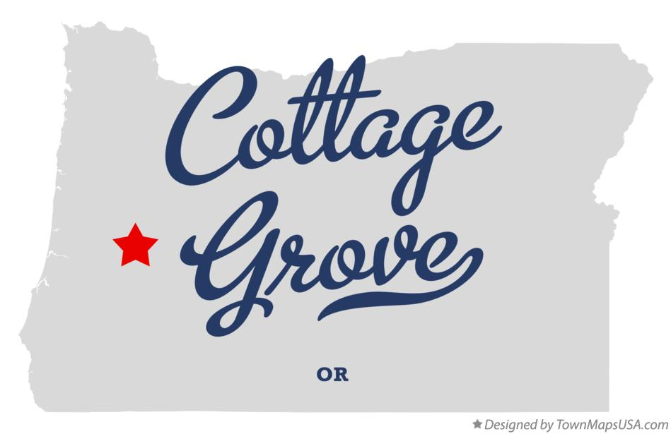 Map of Cottage Grove Oregon OR