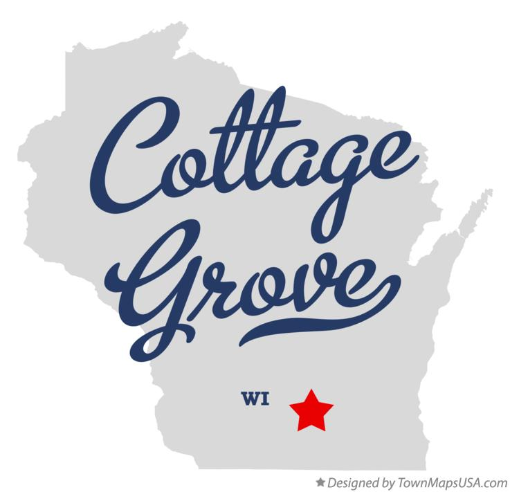 Map of Cottage Grove Wisconsin WI