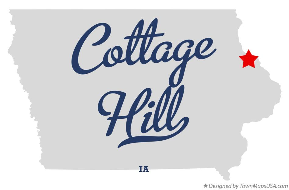 Map of Cottage Hill Iowa IA