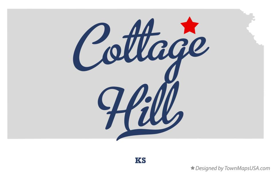 Map of Cottage Hill Kansas KS