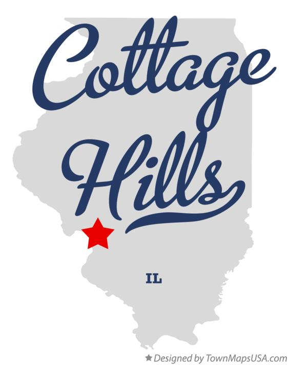 Map of Cottage Hills Illinois IL