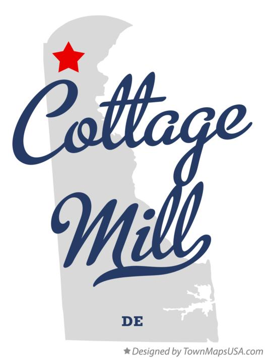 Map of Cottage Mill Delaware DE