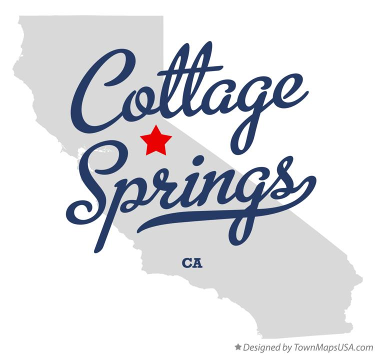 Map of Cottage Springs California CA