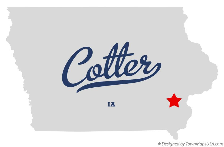 Map of Cotter Iowa IA