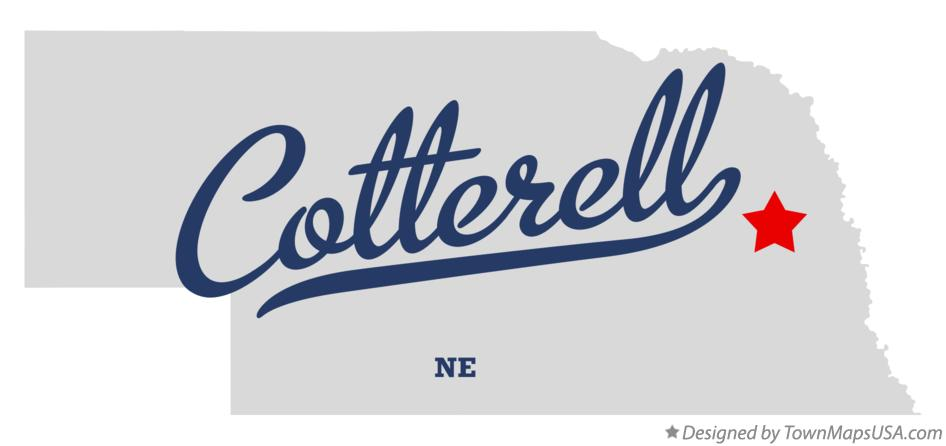 Map of Cotterell Nebraska NE