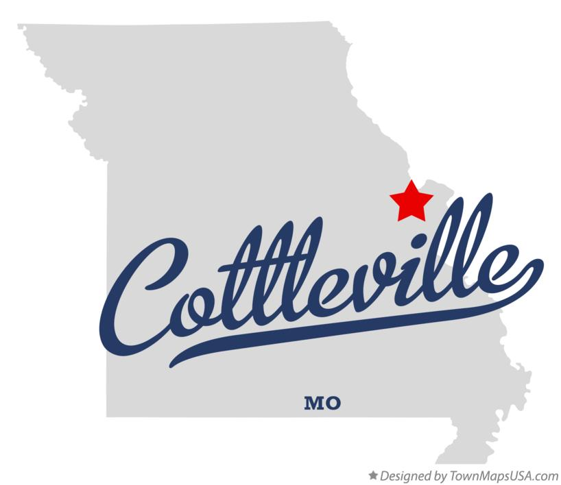 Map of Cottleville Missouri MO