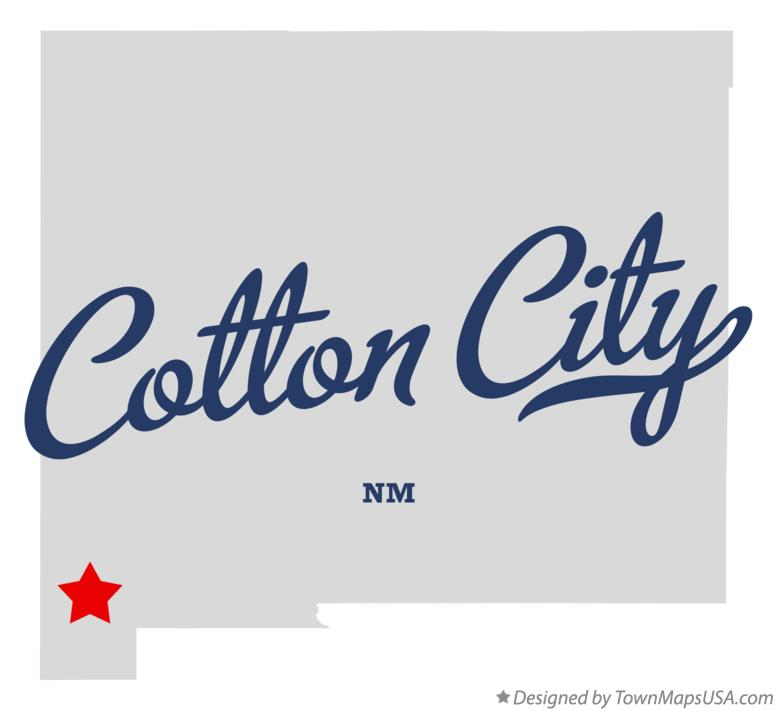 Map of Cotton City New Mexico NM