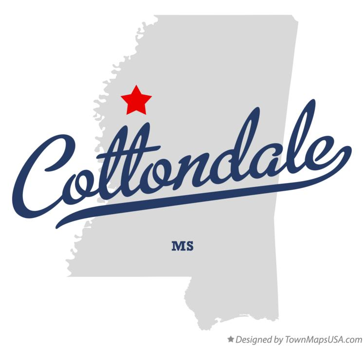 Map of Cottondale Mississippi MS