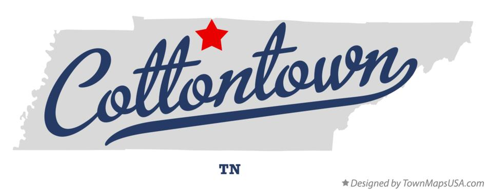 Map of Cottontown Tennessee TN