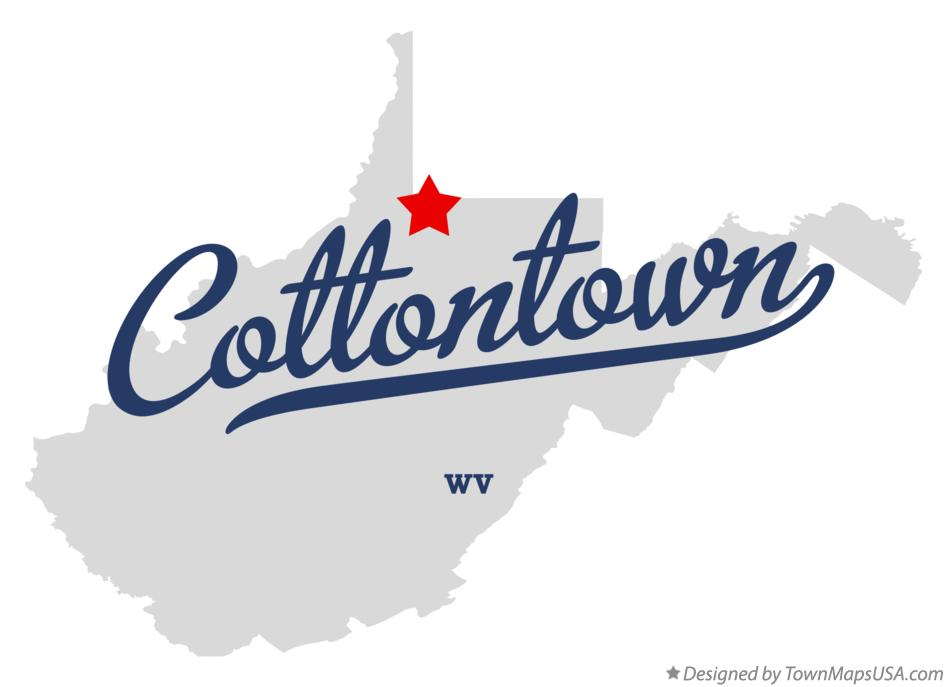 Map of Cottontown West Virginia WV