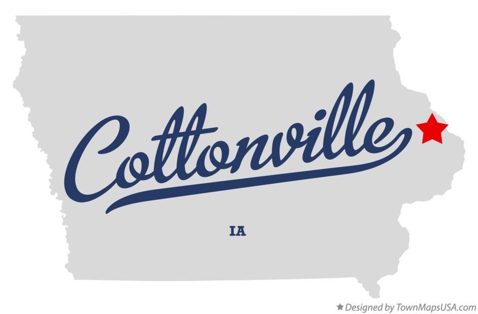 Map of Cottonville Iowa IA