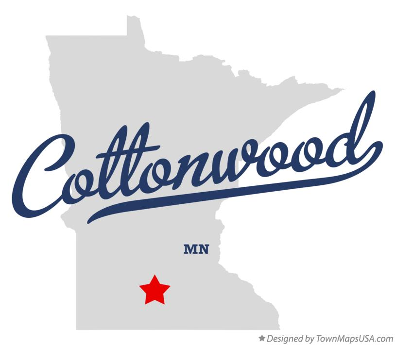 Map of Cottonwood Minnesota MN