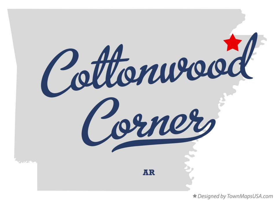Map of Cottonwood Corner Arkansas AR