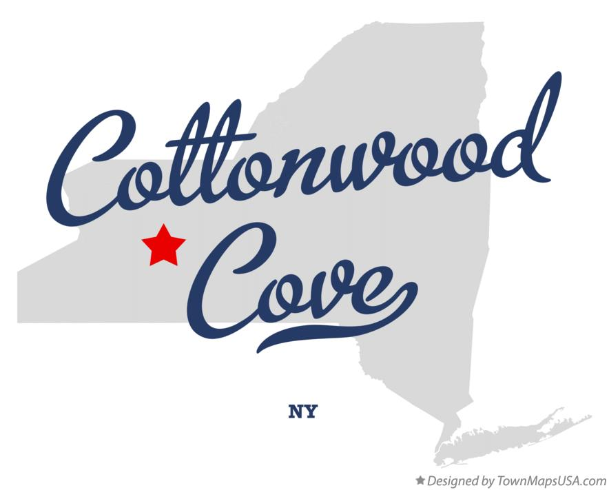 Map of Cottonwood Cove New York NY