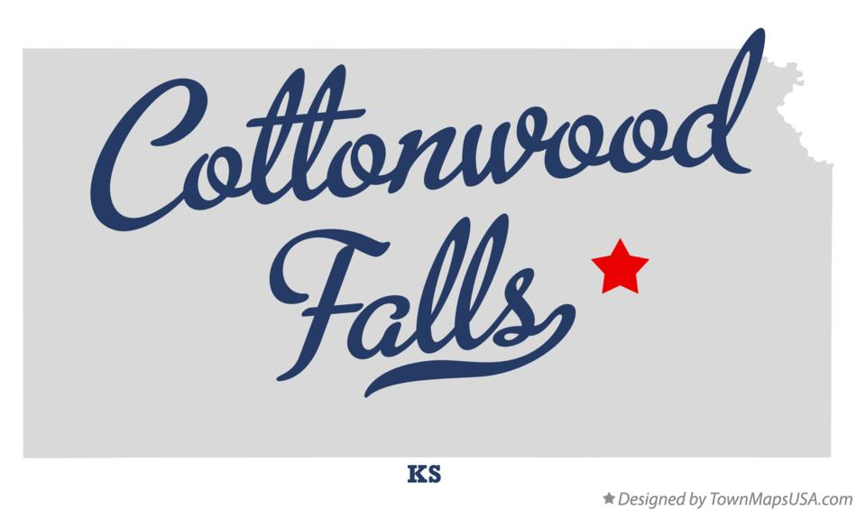 Map of Cottonwood Falls Kansas KS