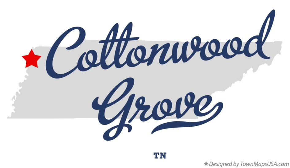 Map of Cottonwood Grove Tennessee TN