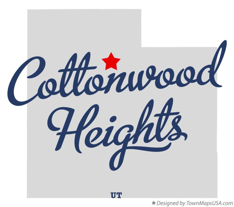 Map of Cottonwood Heights Utah UT