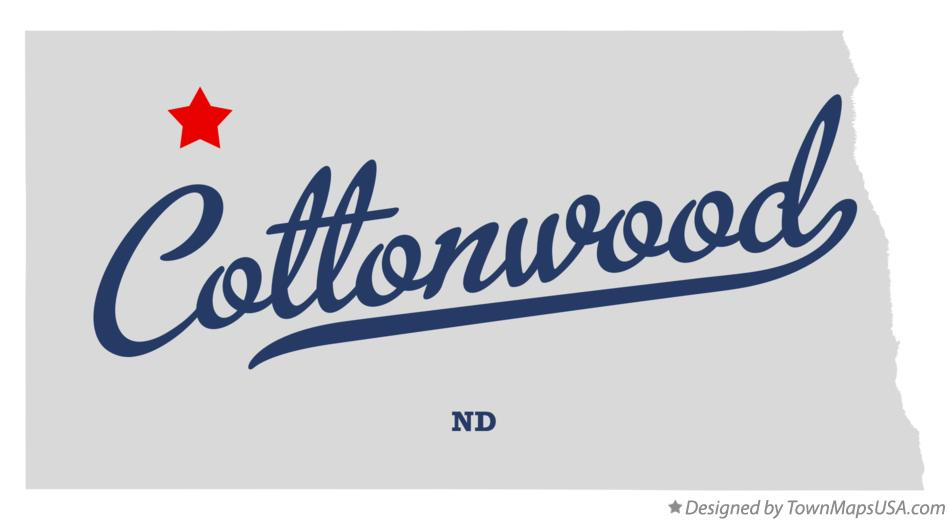 Map of Cottonwood North Dakota ND