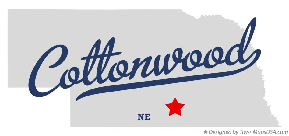 Map of Cottonwood Nebraska NE