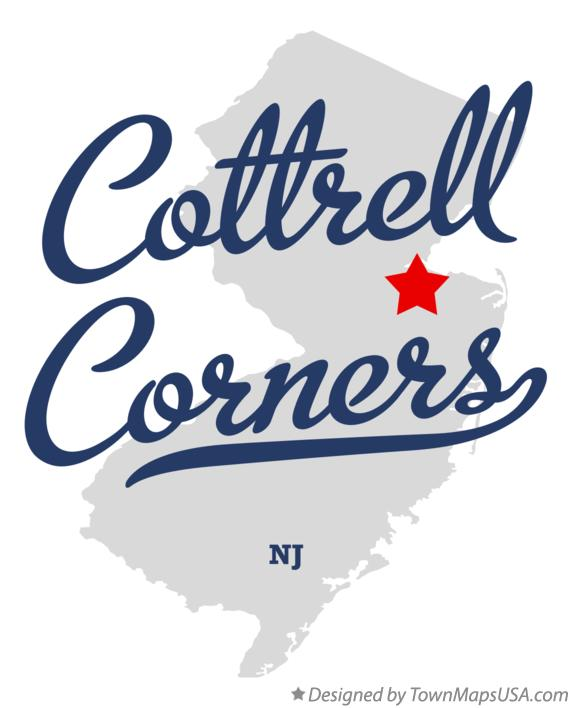 Map of Cottrell Corners New Jersey NJ