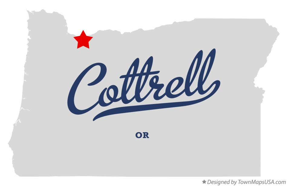 Map of Cottrell Oregon OR