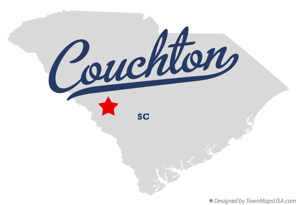 Map of Couchton South Carolina SC