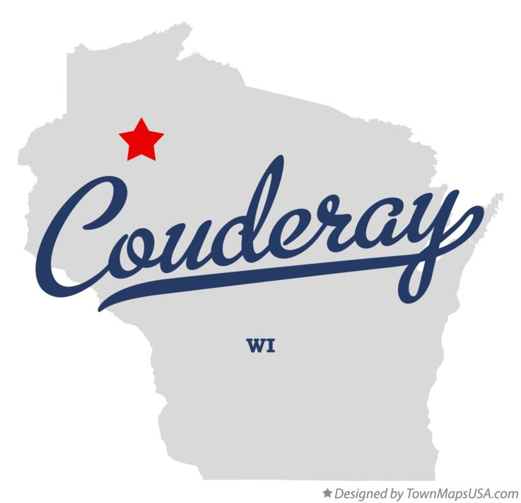 Map of Couderay Wisconsin WI