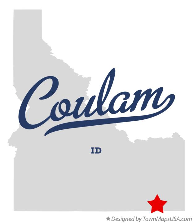 Map of Coulam Idaho ID
