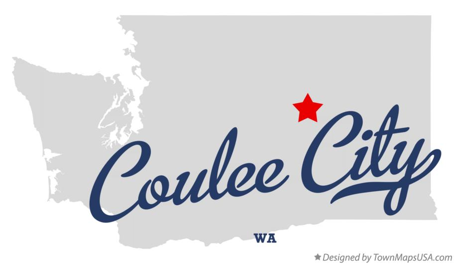 Map of Coulee City Washington WA