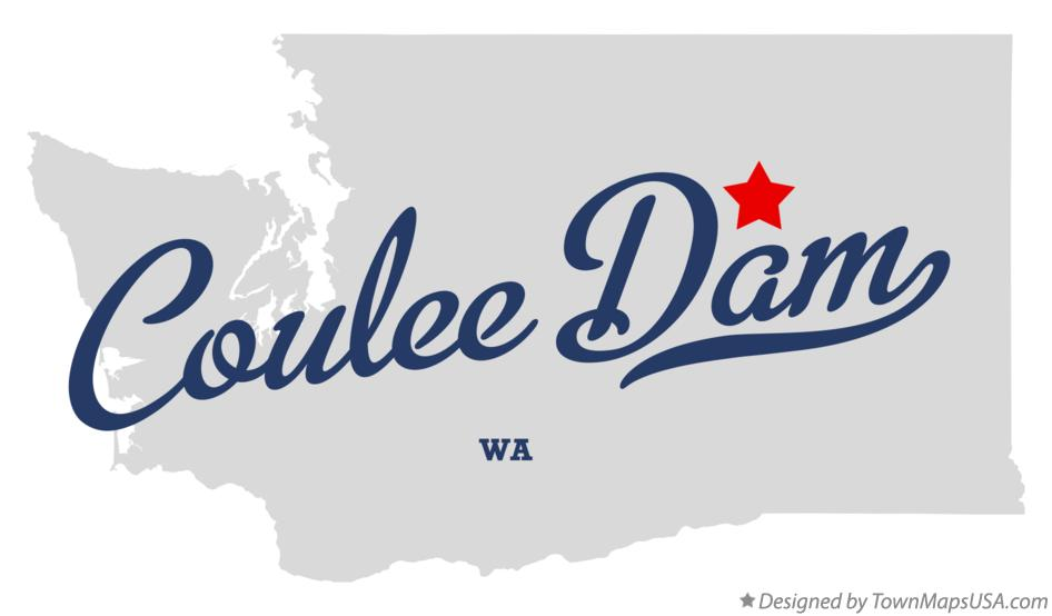 Map of Coulee Dam Washington WA