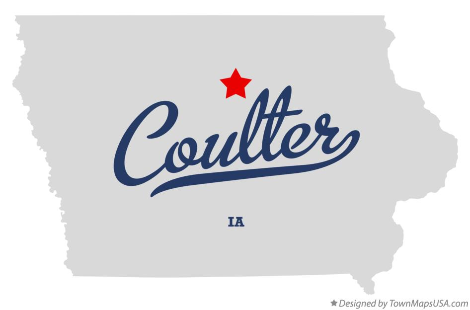 Map of Coulter Iowa IA