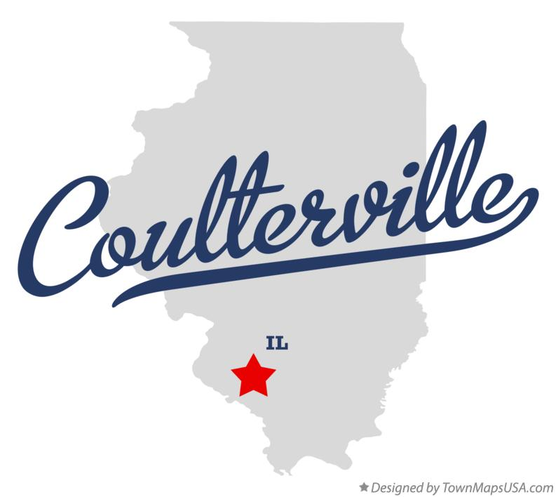 Map of Coulterville Illinois IL