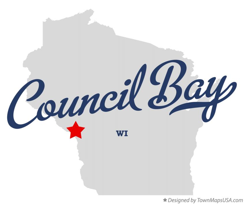 Map of Council Bay Wisconsin WI